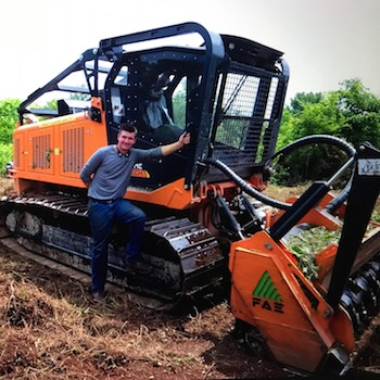 Chris and bulldozer